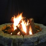 Gas Firepit with Ceramic Gas Logs