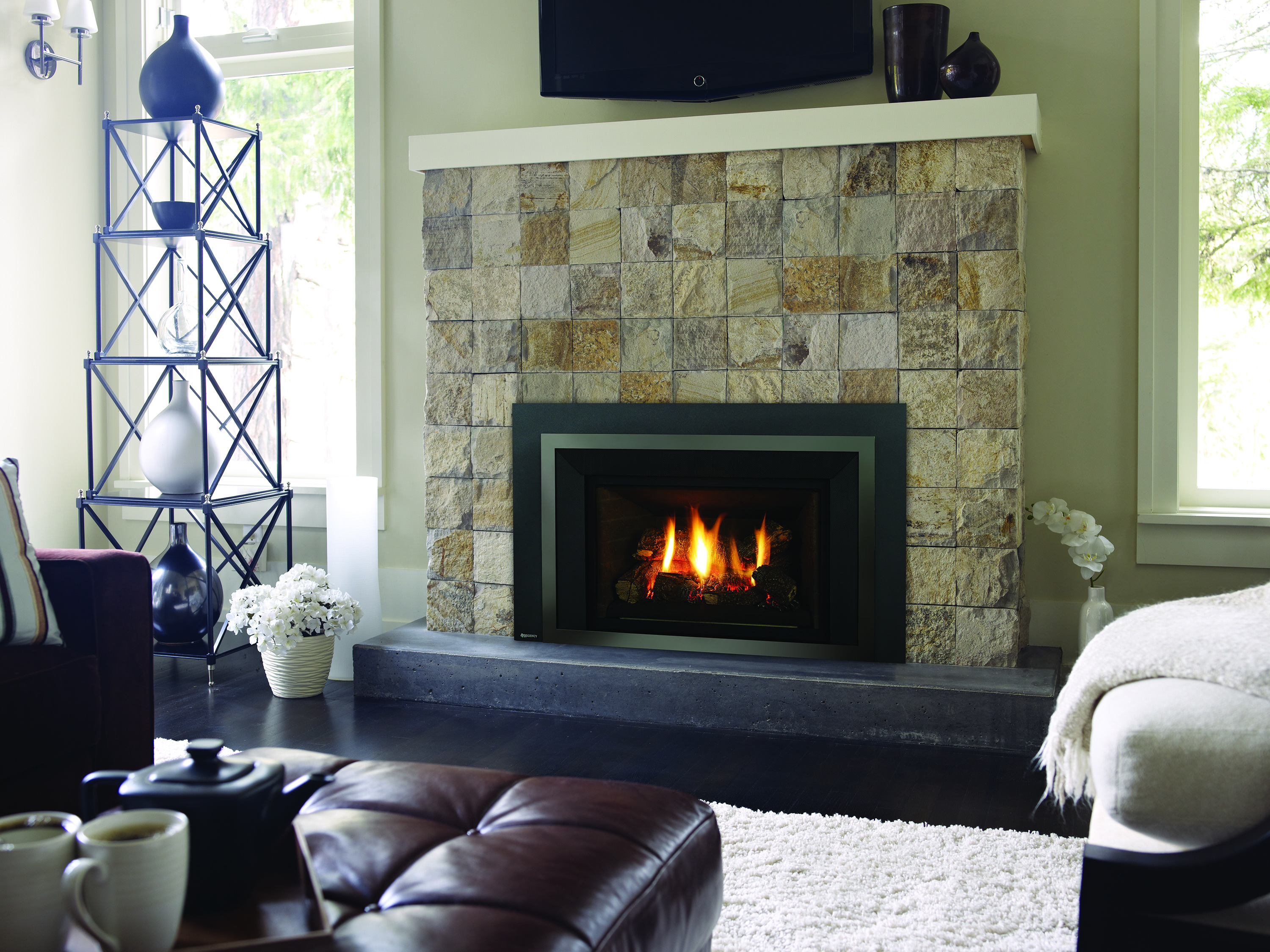 Gas Fireplace Inserts  Central Coast Fireplace - Gas inserts for existing fireplaces
