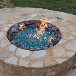 Round Fire Pit with Stone