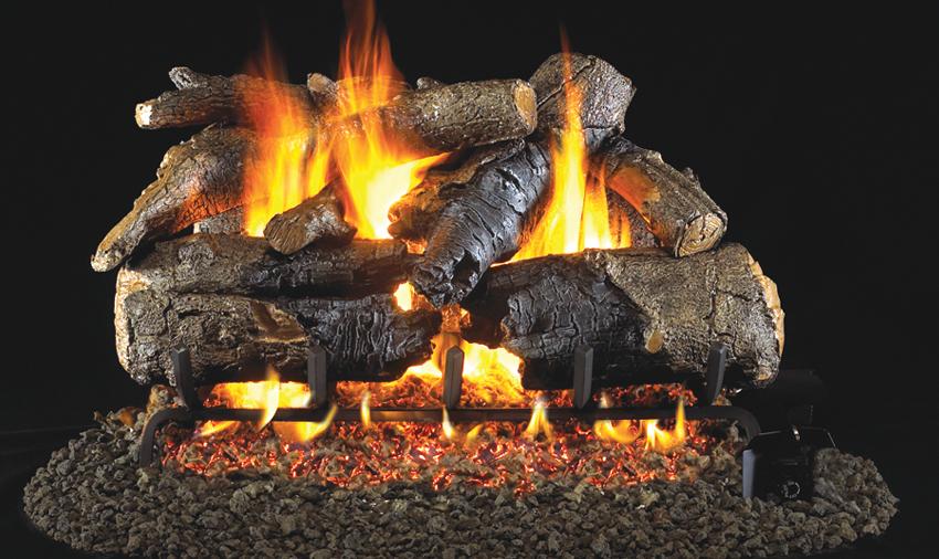 Charred American Oak - Gas Fireplace Logs €� Central Coast Fireplace