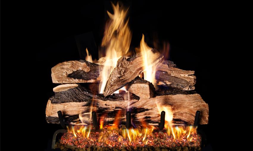 Split Oak Designer Plus - Gas Fireplace Logs €� Central Coast Fireplace