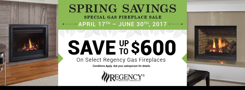 Regency Gas Fireplace Promotion